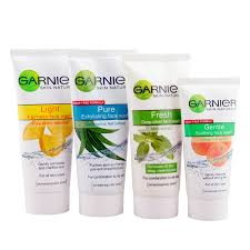 garnier face wash products